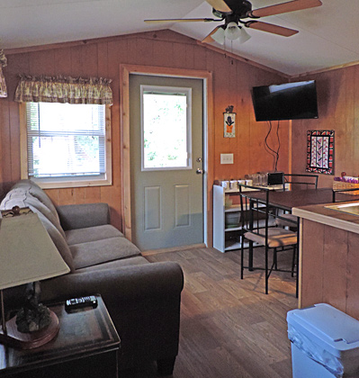 Moose River Campground - Cabin Interior